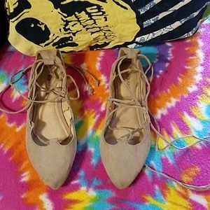 Old Navy lace up the leg Flats